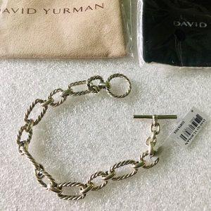 David Yurman Jewelry - David Yurman Chain Link Bracelet w/ Blue Sapphire